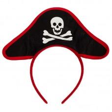 Ободок, Треуголка Пирата, Черный, 1 шт.
