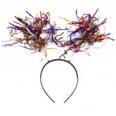 Ободок Дождик на пружинке, Разноцветный, с блестками, 1 шт.