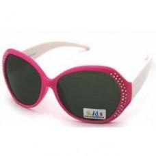 Очки, Модный образ, Розовый, с блестками, 1 шт.