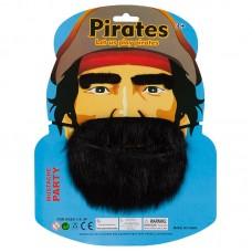 Набор Пират (борода, брови), Черный