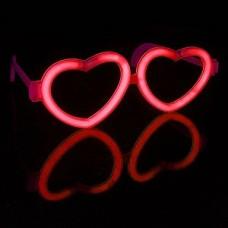 Светящиеся очки, Сердце, 1 шт.