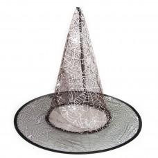 Шляпа Ведьмы Паутинка, Прозрачный, 1 шт.