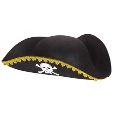 Шляпа Пират, Черный